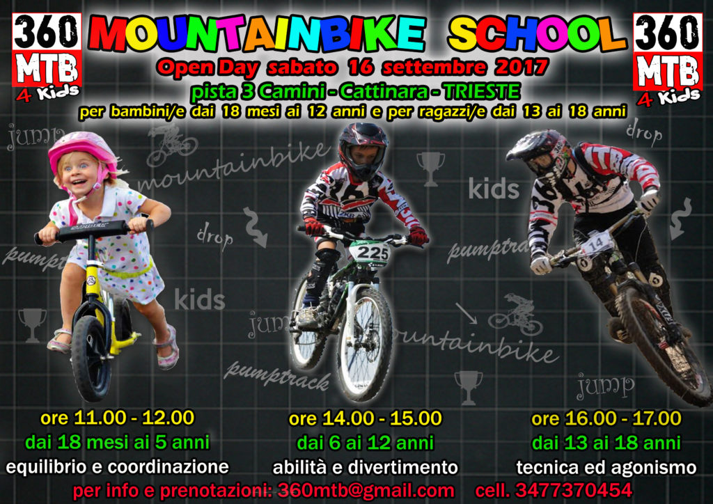 "OPEN DAY scuola di mountain bike ""360MTB 4 KIDS"""